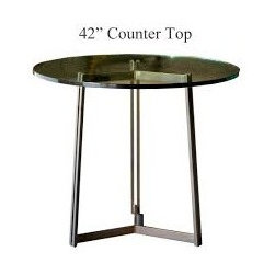 Kern Counter Height Table with 42in. Diameter Top by Charleston Forge - Dimensions: (diameter x height)