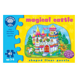 """The Original Toy Company - The Original Toy Company Kids Children Play Magical Castle - Make up your own stories as you piece together this imaginative puzzle. Ther is a fun activity guide on the reverse of the box to extend the play value. Ages 3-6 years. Puzzle size- 23""""x 17"""". 40 pieces. Made in England."""