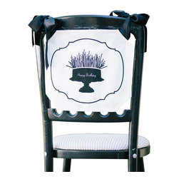 Tin Parade - Chair Banner, Happy Birthday - From the combined talents of an event planner and graphic designer, comes a new concept in party decor. Simply hang a Chair Banner down the back of your guest of honor's chair, or display it on your front door for the warmest of welcomes.