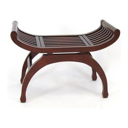 Wayborn - Java Hardwood Stand - Decorative accent. Semi circle legs. Made from Basswood. Smooth finish. 30 in. L x 14 in. W x 21 in. H (25 lbs.)