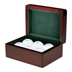 Howard Miller - Howard Miller Presentation Box I - Howard Miller - Boxes - 655130 - This hardwood presentation box is great for keeping anything your value in a green-felt lined hardwood case dressed in a warm rosewood finish.
