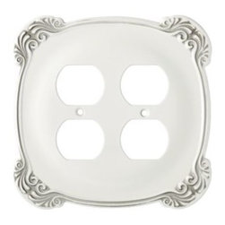 Liberty Hardware - Liberty Hardware 144396 Arboresque WP Collection 5.57 Inch Switch Plate - White - A simple change can make a huge impact on the look and feel of any room. Change out your old wall plates and give any room a brand new feel. Experience the look of a quality Liberty Hardware wall plate. Width - 5.57 Inch, Height - 5.41 Inch, Projection - 0.24 Inch, Finish - White Antique, Weight - 0.42 Lbs.