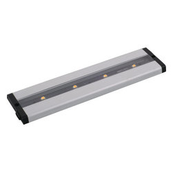 """Maxim - Maxim 89941AL 12"""" 4-Light LED Under Cabinet Light from the CounterMax MX Collect - Maxim 89941AL CounterMax MX 12"""" 4-Light LED Under Cabinet LightEmitting a clean white light that illuminates without shadows, this 12"""" 4 Light LED Under Cabinet Light features extremely energy-efficient LED units and a slim design that makes it suitable for any environment.The CounterMax MX-L-LPC series, a state-of-the-art low profile LED under cabinet light, installs easily under the cabinet and emits a crisp white light which illuminates without shadows. Dimmable using a standard wall dimmer and cabinets stay cool and safe with LED light output. CounterMax MX-L-LPC series is connectable with or without cords using MXInterLink5 technology, making this series convenient as well as beautiful.Maxim 89941AL Features:"""