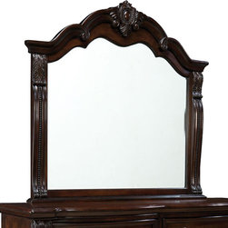 Standard Furniture - Standard Furniture Churchill Arched Mirror in Antique Bronze - Magnificent details give Churchill Bedroom a grand and stately character that's sure to create a stunning master retreat in today's traditional home.