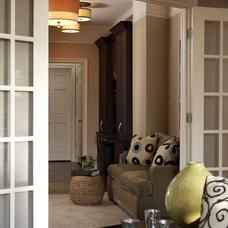 Contemporary Family Room by Robin Baron Design