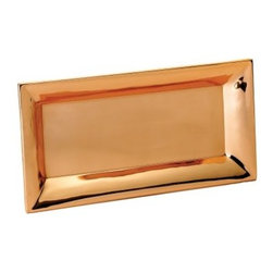 Old Dutch Heavy Gauge Decor Copper Rectangular Tray - 18 in. - Serve up some shiny style with the Old Dutch Heavy Gauge Decor Copper Rectangular Tray - 18 in.. Crafted by skilled artisans, the heavy-gauge construction and tarnish-resistant finish means years of beautiful use for your parties and special events.About Old Dutch InternationalFamous for their copperware, Old Dutch International, Ltd. has been supplying the best in imported housewares and giftware to fine retailers throughout America since 1950. They offer a large assortment of housewares, including bakers racks, trivets, and pot racks in materials like chrome, colorful enamel, and stainless steel. Other product lines include wine racks, serving trays, specialty cookware, clocks, and other home accessories. Old Dutch warehouses and distributes their products from a 30,000 square foot facility in Saddle Brook, N.J.