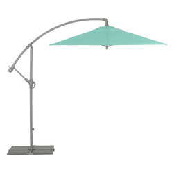 Eclipse Aqua Umbrella - With a gorgeous color and a modern shape, this umbrella is the perfect outdoor summer accessory.