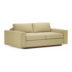 "TrueModern - Jackson 70"" Love Sofa - The Jackson 70"" Loveseat is the right place to curl up and watch your favorite show. This cozy and plush sofa has oversized seating, with arms and pillows that make it the ultimate lounger, but the clean design still keeps it modern and hip."