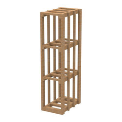 "EcoWineracks 9.52"" Wide Lower Rectangular Bin Rack, Golden Color, Clear Acrylic - EcoWineracks are the worlds only traditional style wine racks made from non-forested and sustainable bamboo. Bamboo is superior to wood in strength and durability, is non-warping and has consistent grain."