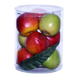 Benzara - Gift Box Well Shaped Large in Lush Red and Green Apples - Add a garden-fresh appearance to your home interiors with this large apples gift box that makes a perfect accessory for table settings. It includes lush green and red apples, making it an ideal choice of gift for anyone who wants to enhance the appeal of their interior decor. It features well-shaped fruits that have wonderful dexterity, ensuring these apples look realistic enough to bring character to home your dining table setting. Set them into a stunning crystal bowl or place them in a pretty wicker basket and adorn your dining table with this homey accessory. This gift box also makes a suitable choice for a house warming gift to welcome new neighbors. It comes with a dimension of 8 in.  H x 6 in.  W x 6 in.  D.