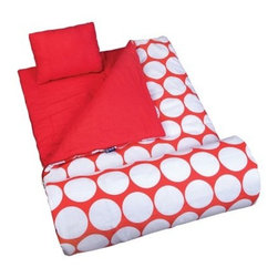Wildkin Big Dot Red & White Sleeping Bag - The Wildkin Big Dot Red & White Sleeping Bag takes a soft and durable sleeping bag and adds a fun geometric design. The included travel pillow and storage bag add a shade of convenience.About WildkinUnpacking the world of children's luggage, Wildkin offers a wide collection of outrageously fun and fantastically practical bags, backpacks, mats, sleeping bags, and more. Each Wildkin piece is available in over 30 unique patterns so parents can be sure to match individual tastes with personalized designs. As safe as they are dynamic, all Wildkin products are crafted with durable, kid-safe materials and tested to ensure the highest quality.