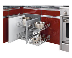 """Rev-A-Shelf - Rev-A-Shelf 5PSP-15-CR Chrome Blind Corner Cabinet Organizer - Great product idea for the hard to reach area deep inside your corner cabinets. This could be the perfect accessory for maximizing storage space in your kitchen. The unit can be installed in both a left or right hand cabinet space. The Rev-A-Shelf 5PSP-15-CR Chrome Blind Corner Cabinet Organizer features wonderful chrome accents that are sure to match any kitchen's decor! Rev-A-Shelf blends function with style and ease-of-use for a must-have cabinet organizer that will enhance your kitchen! Physical specifications: 26-1/4"""" W x 20-1/4"""" D x 21"""" H. Requires 15"""" Minimum Cabinet Width Opening, 20-1/4"""" Minimum Inside Cabinet Depth, and 21"""" Minimum Cabinet Height Opening. Recommended not to exceed 20 lbs. per basket."""