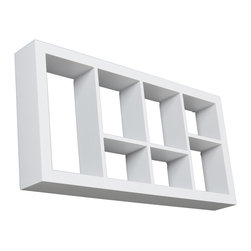 Holly & Martin - Collins Display Shelf, White - These elegant display cubes are a perfect solution for all your decor needs! This cube display shelf will provide an easy way to update any wall, whether in a traditional or contemporary setting. A cool and contemporary way to show off souvenirs, small treasures or art, this wall cube creates a dynamic arrangement in a living or dining room.