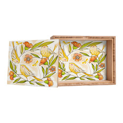 DENY Designs - Cori Dantini Happy Family Single Storage Box - Love yourself a knickknack or two (or three)? Well, then this is the box for you! The Amber Bamboo wooden Storage Box is available in two sizes with a printed exterior lid and interior bottom. So, you can still be a collector of sorts, but now you've got an organized home for it all. 100% sustainable, eco-friendly flat grain amber bamboo wood box with printed glossy exterior lid and interior bottom. Custom made in the USA for every order.