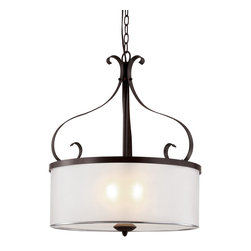 Trans Globe 70388 ROB Eclectic Tempo Rubbed Oil Bronze Pendant - Trans Globe 70388 ROB Eclectic Tempo Rubbed Oil Bronze Pendant-Collection: Eclectic Tempo-Number of Bulbs: 3-Bulb Type: 60 Watt Type A Medium-Bulbs Not Included-Glass/Shade: Vellum Acrylid-Weight: 16-1 Year Limited Warranty