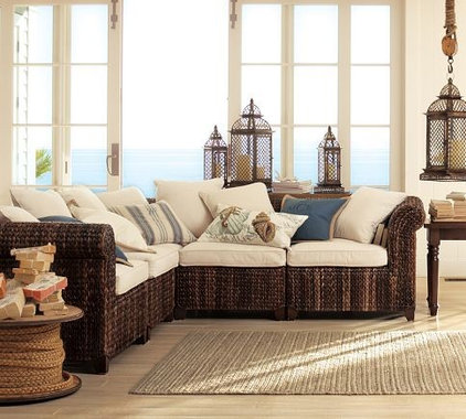Tropical Sectional Sofas by Pottery Barn