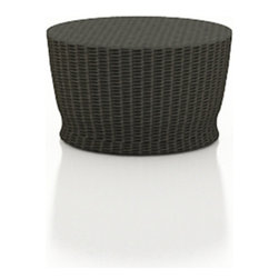 Forever Patio - Barbados Round Outdoor Wicker Chat Table, Ebony Wicker - Complete your curved patio seating with the stylish and functional Forever Patio Barbados Modern Patio Round Chat Table (SKU FP-BAR-RCT-EB). The UV-protected, ebony-colored wicker sports a flat woven design, creating a contemporary look with clean lines. Each strand of this outdoor wicker is made from High-Density Polyethylene (HDPE) and is infused with its rich color and UV-inhibitors that prevent cracking, chipping and fading ordinarily caused by sunlight. This modern patio chat table is supported by thick-gauged, powder-coated aluminum frames that make it more durable than natural rattan. A tempered glass table top is included with this table, adding an extra touch of modern style to your wicker outdoor dining table.