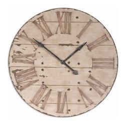 "Uttermost - Uttermost 06671 Harrington 36"" Wooden Wall Clock - Uttermost 06671 Harrington 36"" Wooden Wall Clock"