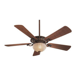 """Minka Aire Fans - Volterra Ceiling Fan by Minka Aire Fans - Neo-classically inspired, with rich detailing on the blade irons and fan body. The Minka Aire Volterra Ceiling Fan features 5 blades with a 52"""" blade span and has an integrated downlight and uplight, with a wall control that allows for independent control of each. Includes 2 downrods (3.5"""" and 6""""). The Minka Group, located in Corona, CA, offers a variety of products, including Minka Aire fans, Minka Lavery lighting, and George Kovacs fans and lighting."""