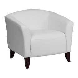 Flash Furniture - Flash Furniture Accent Chair X-GG-HW-1-111 - Make an impression with your clients and customers with this attractive leather reception chair. Reception Chairs are perfect for the office and waiting room seating. Not only will this chair fit in a professional environment, but will add a chic look to your living room space. The contemporary design of this chair will fit in a multitude of environments with its streamlined stitching and curved elevated hardwood feet. [111-1-WH-GG]