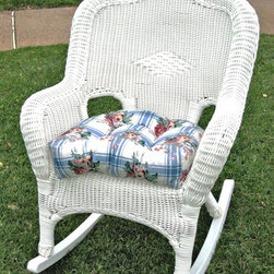 International Caravan - Wicker Outdoor Rocker (White) - Finish: WhiteUV light fading protection. Water resistant coating and deep seated. Made from resin and steel. Minimal assembly required. 29 in. W x 35 in. D x 37 in. H (40 lbs.)A perfect addition to your new garden or patio.