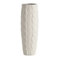 Arteriors 7358 Shea Cable-knit Porcelain Vase - I love the idea of wrapping my floral arrangements up in the comfort of knits. This porcelain cable-knit vase would look fantastic holding a bunch of fall twigs.