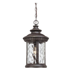Quoizel - Quoizel CHI1911IB Chimera Outdoor Hanging Light - Chimera, a traditional outdoor collection with unique glass, will add flair to your home's exterior.  Its imperial bronze finish works well with many decors its distinctive clear water glass is sure to make a statement for years to come.
