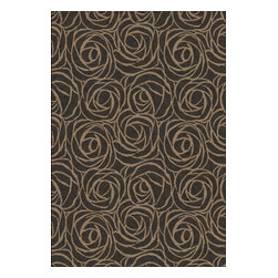 """Dynamic Rugs - Dynamic Rugs Eclipse 63011-3313 (Black Brown) 6'7"""" x 9'6"""" Rug - The Eclipse rug collection combines warm rich spice colors and natural tones. This collection is woven using a special double pointing technique which results in a rich color palette of endless color shades. These color gradations, combined with universally styled and upscale designs makes this collection a beautiful feature for today's stylish homes. This collection is woven with 100 % EXCELON heat-set polypropylene yarn for soft hand and good pile retention."""
