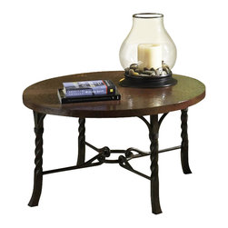 Riverside Furniture - Riverside Medley Round Cocktail Table in Camden / Wildwood Taupe - Riverside Furniture - Coffee Tables - 45205 - The Arkansas River Valley is home of majestic forests ruggedly beautiful mountains gurgling brooks and swiftly flowing rivers. It is also the home of Riverside Furniture Corporation. But like they would with any old friend most folks refer to us just by our first name. Riverside has been growing with America for more than half a century now and since then, Riverside has been a name three generations of Americans who have furnished their homes and offices with our wide range of furniture products. We want the Riverside name to be trusted for quality products that are an affordable value. It's just that simple.