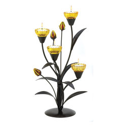KOOLEKOO - Tiger Lily Tealight Candleholder - Just imagine this lovely decoration filled with glowing tealight candles, warming the night with gentle golden light. A timeless designer look that adds instant beauty and drama to your very own home!