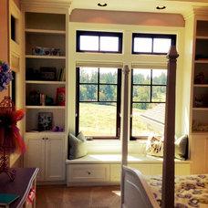 Girls' rooms- window seat, storage