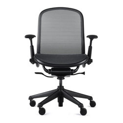 "Knoll - Chadwick Mid-Back Mesh Task Chair - Learn more about Chadwick Mid-Back Mesh Task Chair below: Features at Glance • Specifications • Order with Confidence Back To Top Features at Glance *This product is made to order and thus customer orders cannot be canceled once products go into production -Design Year: 2005 -Active Suspension system includes synchronized tilt mechanism and resilient fabric. -Generous lumbar curvature. -Flexing armpads alleviate pressure points. -360 Degree swivel. -Designed to minimize impact on environment. -Overall dimensions: 37.5"" - 42"" H x 26.5"" W x 25.5"" D. -Frequent vacuuming or light brushing to remove dust and grime is recommended. Spot clean, with mild upholstery shampoo or foam from mild detergent. When using cleaning product, follow instructions carefully and clean only in well-ventilated room. Avoid any product contains carbon tetrachloride or other toxic materials. With any method, pretest small area before proceeding. Use professional furniture cleaning service when an overall soiled condition has been reached. Back To Top Order with Confidence -Sustainability Statement: Sustainable design is key component of Knoll's environmental focus. Knoll's commitment to social responsibility and healthy environment has prompted company to further articulate its longstanding environmental programs and, with encouragement and support from colleagues in industry, Knoll has re-energized its focus on such ""green"" initiatives as life cycle analysis and LEED� certification. Knoll is proud to have contributed to projects have received LEED certification from U.S. Green Building Council. -The Chadwick Chair is Greenguard certified. -Knoll products are guaranteed to be free from defects in materials and workmanship during applicable warranty period set forth in Knoll Warranty. -Should you discover shortly after receiving your Chadwick Chair parts are either damaged or missing, please call us immediately, and we will be happy to send you replacement parts as soon as possible and at no additional cost. -Each authentic Knoll product includes certificate of authenticity. Please Note: product does not meet Cal 133 specifications. Don Chadwick, designer of acclaimed Aeron Chair, brings over 30 years of experience and mastery of materials to Knoll. Chadwick Chair holds distinction of being first chair bears his name. On his relationship with Knoll, marking career milestone, he comments, ""I consider Knoll to be at highest level of contemporary design, and our collaboration is notable one for me."" With Chadwick Chair, he has proven himself to be as effective at bringing product to market as creating market itself. Don Chadwick simplified design of an office chair to include only necessary components. Combining his design experience and Knoll's design principles, Chadwick Chair boasts several extraordinary features .. -Created from Don Chadwick's thorough comprehension of material properties, Chadwick mesh is woven material made out of Lycra, polyester, and elastic precisely heat molded into frame. result is energizing support conforms to"