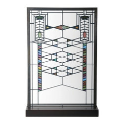 Summit - Frank Lloyd Wright Robie House Stained Glass - This gorgeous Frank Lloyd Wright Robie House Stained Glass has the finest details and highest quality you will find anywhere! Frank Lloyd Wright Robie House Stained Glass is truly remarkable.
