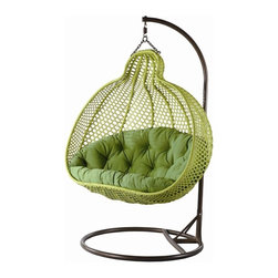Ris Double Wide Rattan Hanging Chair - Ris Double Wide Rattan Hanging Chair