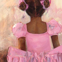 """Ballerinas Pretty Pink Nursery - Kristina Bass-Bailey's """"Perfect Ballerina - African American"""" comes in size 18x24"""