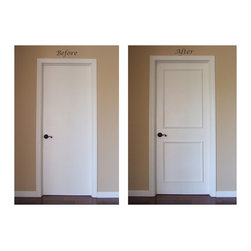 Instant Two Panel Raised Door Moulding Kit - Before and After...