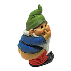 EttansPalace - Garden Gnome Statue - Who cut the gnome cheese? We'll never tell, but you may already have a good idea with Stinky's gnome pants pointing in a southerly direction. Imaginatively sculpted, our garden gnome sculpture is lovingly created of quality designer resin and then hand-painted one piece at a time exclusively by skilled gnome artisans. Another quality garden gnome statue !