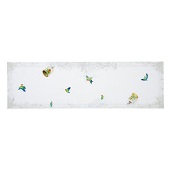 Lovebirds Linen Table Runner