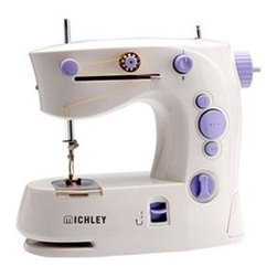 """Michley Electronics - Portable Sewing Machine - Portable sewing machine with double thread double speed forward and reverse sewing straight stitch and """"Z"""" stitch sleeves sewing automatic thread rewind adjustable stitch width drawer included. When on the go accidents happen this portable sewing machine is the answer."""