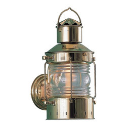 Shiplights - Bracket Anchor Light by Shiplights (Solid Brass), Coated Brass - Coated Finish - The light will stay bright longer, though eventually it will patina/verdigris.