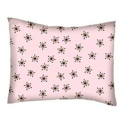 SheetWorld - SheetWorld Twin Pillow Case - Percale Pillow Case - Brown Snowflake Pink Woven - Twin pillow case. Made of an all cotton flannel fabric. Side Opening. Features the one and only brown snowflake pink woven!