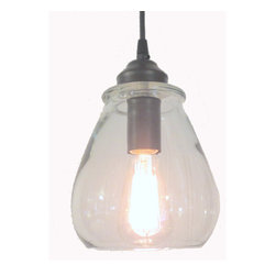 CLEAR PENDANT LIGHT WITH EDISON BULB, Oil Rubbed Bronze - IIts dramatic, its charming and its current.