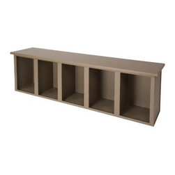 Bradley Lenox Cubbie Bench - This cubbie bench is made by Bradley Lenox.  It is available in many colors, and retails for $663.33 at http://www.morelockers.com