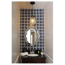 Contemporary Powder Room by The Property Sisters