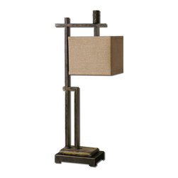 Uttermost - Uttermost 29923-1 Porano Dark Bronze Buffet Lamp - Uttermost 29923-1 Porano Dark Bronze Buffet Lamp