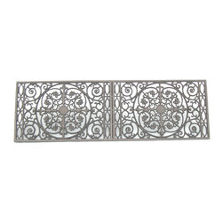 Door Mat Double - Let family and friends clean their feet in beautiful period style with these sturdy, heavy duty cast iron door mats. Their durable powder coated finish makes them easy to maintain. Functional yet beautiful with their large scroll