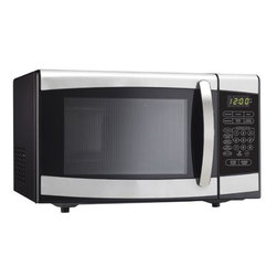 Danby - 0.7 Cu.ft., 700 Watts Microwave, Black with Stainless Steel - Danby's counter top microwaves are not only practical and economical, they're stylish too! Danby microwaves are well suited for the dorm room, office, cottage or kitchen. 0.7 Cu.Ft. (20 litre) capacity