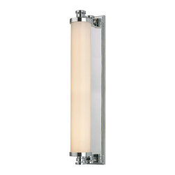 Hudson Valley Lighting - Sheridan Bath and Vanity - Sheridan Bath Bar features Opal glass with Aged Brass, Polished Chrome, or Polished Nickel finishes. 1.2 watt, 120 volt LED's included. UL listed for damp locations. Small: 3.25 inch width x 15.5 inch height x 6 inch depth.  Medium:  3.25 inch width x 23.5 inch height x 6 inch depth.
