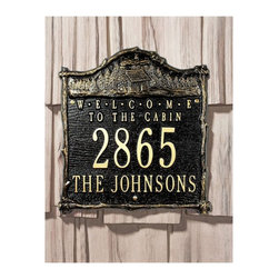 Whitehall - Whitehall Welcome Cabin 2-line Standard Wall Plaque - 3016AC - Shop for Wall Art from Hayneedle.com! About WhitehallWhitehall is the world's largest manufacturer of weathervanes but the business points a lot more ways than east west north and south. Inspired by traditional handcrafted designs and quality Whitehall also makes gorgeous mailboxes address plaques and outdoor accents. They're based in western Michigan building American tradition and quality into every product they make.