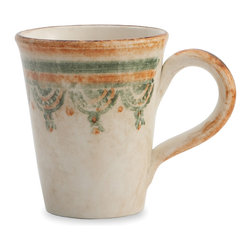 Arte Italica - Chianti Mug - Make any hot beverage an indulgent treat with this beautiful handmade mug. The rich yet subtle colors and rustic design will make you feel like you're relaxing in the Tuscan countryside with every sip.